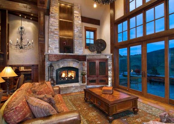 fireplace wall design