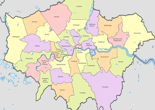 list of london boroughs
