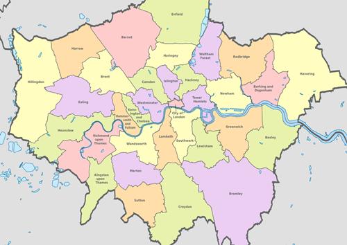 list of london boroughs
