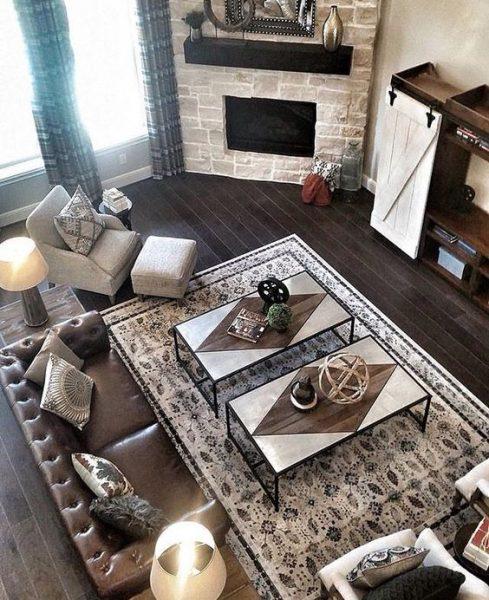 corner fireplace decor